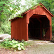 Red covered bridge, Connecticut.