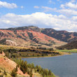 Red Hills above Slide Lake, Wyoming.