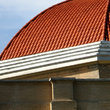 Red-tiled dome roof in Nebraska.