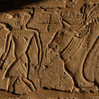 Relief from the Habu Temple near Luxor.