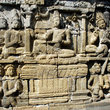 Relief work at Borobudur.