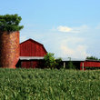 Rural barn and silo in Tennessee.