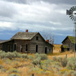 Rural farmhouse and windmill, Palouse, Oregon.