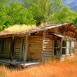 Rustic pioneer cabin in Wyoming.
