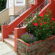 Colorful entrance to a home in San Francisco.