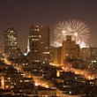 Fireworks over San Francisco.
