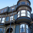 Victorian mansion exterior in San Francisco.