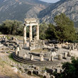 Tourist attractions in Delphi, Greece