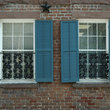 Shuttered windows of an historic home in Savannah.