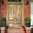 Old door in the historic district of Savannah.