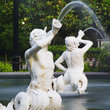 Detail of a fountain in Forsyth Park, Savannah.