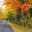 Scenic roadway in Michigan's Upper Peninsula.