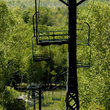 Ski chair lift in the off-season, Northern Wisconsin.