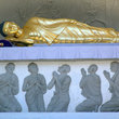 Sleeping Buddha at the Peace Pagoda.