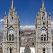 Spire of Cathedral in Quito.