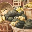 Squash in Baskets at a Farmers Market in Vermont.