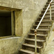 Stairs in a historic military fort in Canby.