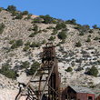 Structures at the abandoned King David Mine.