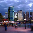 Sydney Harbourside at dusk.
