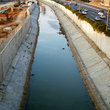 Roadside canal in Tel Aviv.