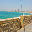 The sea wall at Tel Aviv.