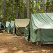 Tents at Scout Camp in Washington.