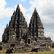 The ancient Prambanan Hindu temple in Yogyakarta.