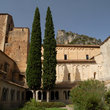 The courtyard of the Monastery of St Guilhem.