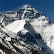 The peak of Mount Everest.