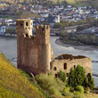 The ruin of castle Ehrenfels near River Rhine.