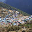 The Sherpa village of Namche Bazar.