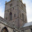 The tower of St Peters Cathedral, Pembrokeshire.