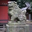 Guardian statue at the Shinto Shrine outside of Tokyo.