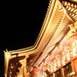 Lights at night on the Sensoji Temple in Asakusa, Tokyo.