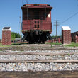 Train Memorial in Pauls Valley, Oklahoma.