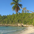 Tropical beach on Togians Island.