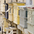 Balconies in the city of Valletta.