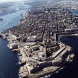 Aerial view of Valletta.