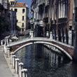 Bridge over a canal in Venice.