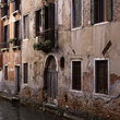 Old building along a canal in Venice.