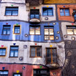 Colorful building in Vienna.