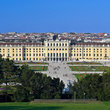View of Schloss Schoenbrunn in Vienna.