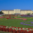 Gardens in front of Schloss Schoenbrunn.