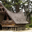 View of Batak's house in Sumatra.