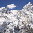 View of Mount Everest and Nuptse.
