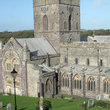 View over St Peters Cathedral in Pembrokshire.