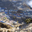 View over the village of Namche Bazar.