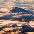 Volcanoe in the clouds, Washington.