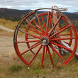 Wagon wheels near Boundary, Alaska.