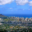 Panoramic view of Waikiki.
